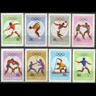 ROMANIA 1968 - Scott# 2030-7 Olympics Set Of 8 MNH - 1948-.... Republics