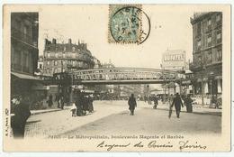 Métro  - Le Métropolitain Sur Les Boulevards Magenta Et Barbès - U-Bahnen