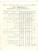 Facture Th.Somville Entrepreneur à Court-Saint-Etienne En 1901 PR4495 - 1900 – 1949