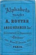 """Carnet Alphabet De La Brodeuse N°1 """"Lettres-Chiffres-Monogrammes Ornements Broderie A-ROUYER"""" - Fashion"""
