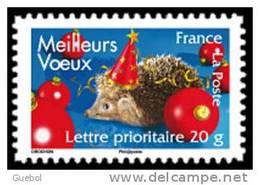 France Autoadhésif N°  143 ** Ou 4123 - Meilleurs Voeux 2008 - Hérisson Avec Un Chapeau De Fête - Sellos Autoadhesivos