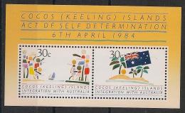 Cocos - 1984 - Bloc Feuillet N°Yv. 4 - Autodetermination  - Neuf Luxe ** / MNH / Postfrisch - Cocos (Keeling) Islands