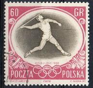 PIA - POL - 1956 - Giochi Olimpici Di Melbourne : Lancio Del Giavellotto - (Yv  875 )