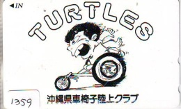Télécarte Japon * TORTUE  (1359) * PHONECARD JAPAN *  * TURTLE *  TELEFONKARTE * SCHILDKRÖTE * SCHILDPAD - Turtles