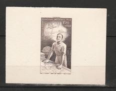 COTE D'IVOIRE ÉPREUVE D'ARTISTE EN MARRON QUINZAINE IMPERIALE - Costa D'Avorio (1892-1944)