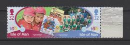 Isle Of Man Mi 1591-1592 - Centenary Of Girlguiding - Europa CEPT - Two Rainbows - Company Of Rainbows & Leaders 2010 ** - Isle Of Man