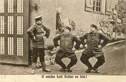 CARTE PROPAGANDE ALLEMANDE GUERRE 14-18 - SOLDATS BIEN PORTANTS - Weltkrieg 1914-18