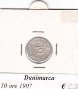 DANIMARCA   10 ORE  1907  COME DA FOTO - Danimarca