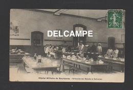 DF / MILITARIA / HÔPITAL MILITAIRE DE BOURBONNE LES BAINS / RÉFECTOIRE DES MALADES ET INFIRMIERS / CIRCULÉE EN 1912 - Militaria