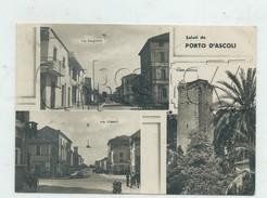 Porto D'Ascoli (Italie, Mache) : 3 Vues Dont Via Stazione E Via Torino En 1950 (animé) GF - Other Cities