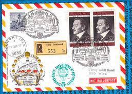 Austria - Registered Cover - Ballonpost 40.National Feiertag 26.10.1968 - Ballons