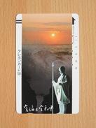 Japon Japan Free Front Bar, Balken Phonecard - 110-2238 / Sunset, Statue / Sonnenuntergang / Coucher De Soleil - Paysages