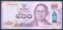 Thailand, 500 Baht, Pick 124, Sign. 87, 2014, UNC ! - Tailandia