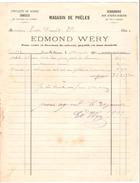 5 Factures Edmond Wéry Magasin De Poëles à Court-Saint-Etienne 1902-1905-1907-1908-1909 PR4502 - 1900 – 1949