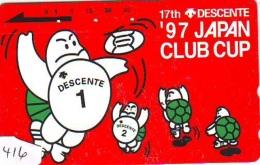 Télécarte Japon * TORTUE  (1416) * PHONECARD JAPAN *  * TURTLE *  TELEFONKARTE * SCHILDKRÖTE * SCHILDPAD - Schildpadden