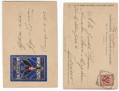 Italy Used In 1903 DEL 50 REGGIMENTO DI FANTERIA Card +  BRIGATA PARMA 1859  Label , PIACENZA > Torino - 1900-44 Vittorio Emanuele III