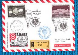 Austria - Registered Cover - Ballonpost 43 Zweite Republik 25 Jahre 09.05.1970 - Ballons