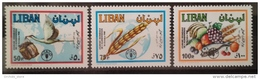 R2 - Lebanon 1982 Mi. 1306-1308 MNH - World Food Day - FAO - Lebanon