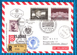 Austria - Registered Cover - Ballonpost 43 Zweite Republik 25 Jahre 09.05.1970 / 02 - Ballons