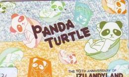 Télécarte Japon * TORTUE  (1421)  PHONECARD JAPAN * Panda * TURTLE *  TELEFONKARTE * SCHILDKRÖTE * SCHILDPAD - Turtles