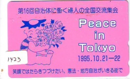 Télécarte Japon * TORTUE  (1423)  PHONECARD JAPAN * PEACE  * TURTLE *  TELEFONKARTE * SCHILDKRÖTE * SCHILDPAD - Turtles