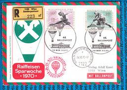 Austria - Registered Cover - Ballonpost 44 Sparwoche Raiffeisen 24.10.1970 / 02 - Ballons