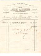 Facture Antoine Vansiliette Entrepreneur De Peinture à Court-Saint-Etienne En 1909 PR4503 - 1900 – 1949