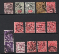 GREAT BRITAIN PERFIN STAMPS PERFORES TIMBRES ANGLATERRE C&G, L, CL GB GBL LEC  B&R G L&A OV R.0 &Oo - Great Britain