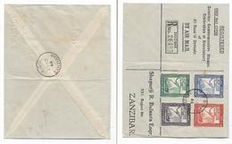 Zanzibar 1944 Bicentenary Of Al Bussaid Dynasty, First Day Cover, Registered ZANZIBAR - Zanzibar (...-1963)