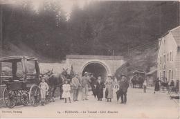 BUSSANG - Le Tunnel  Côté  Alsacien  -  Attelages  Et Personnages ( Carte Très Animée ). - Bussang