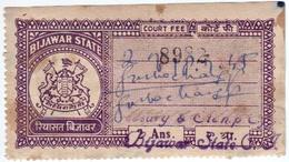INDIA BIJAWAR PRINCELY STATE 2-ANNAS COURT FEE STAMP 1944-48 GOOD/USED - Bijawar