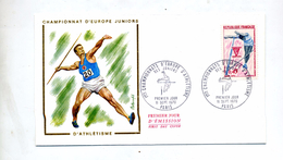 Lettre Fdc 1970 Paris Championnat Europe Athletisme Saut Perche - 1970-1979