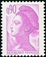 France Liberté De Gandon N° 2242 ** Le 0f.90 Violet Clair - 1982-90 Liberty Of Gandon