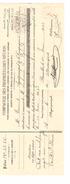 Reçu(1923) Et Contrat D'Assurance(1910) Rédigés Par La Compagnie Des Propriétaires Réunis Agence De Court-Saint-Etienne - Belgique