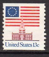 USA 1975-81 Definitives, 13c Independence Hall Coil Stamp, Imperf. X P.10, MNH (SG 1606e) - Vereinigte Staaten