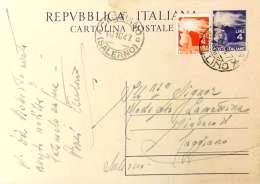 -SC, STORIA POSTALE, REPUBBLICA, 1947, CARTOLINA POSTALE, COPPIA, L. 4 - 6. 1946-.. Republic