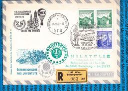 Austria - Registered Cover - Ballonpost 48 Pro Juventute  17.10.1972 - Ballons