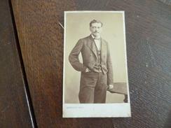 Photo Originale 19ème CDV  Francisque Cailliat  Identifiée Au Dos Noblesse Photo Argellier Saint Etienne - Personnes Identifiées