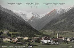 MIEDERS → Panoramakarte  Mit Gletscherblick, Ca.1960 - Innsbruck