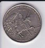 MONEDA DE CUBA DE 1 PESO DEL AÑO 2001 SIMON BOLIVAR 18O ANIVERSARIO BATALLA DE CARABOBO (COIN) SIN CIRCULAR-UNCIRCULATED - Kuba