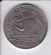 MONEDA DE CUBA DE 1 PESO DEL AÑO 1996 DEL 40 ANIVERSARIO DESEMBARCO DEL GRANMA (FIDEL CASTRO) SIN CIRCULAR-UNCIRCULATED - Kuba