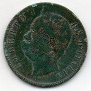 Italie - 10 Centesimi 1893 BL - Umberto I - 1861-1946 : Royaume
