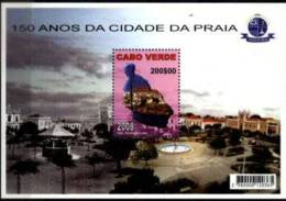 CAPE VERDE, 2008, 150TH ANNIVERSARY OF THE CITY OF PRAIA, R#B.41, SS, MNH - Cape Verde