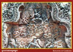 1 AK Kambodscha Cambodia * Reliefs Am Tempel Banteay Srei - Erbaut Im 10. Jahrhundert - Seit 1992 UNESCO Weltkulturerbe - Cambodge