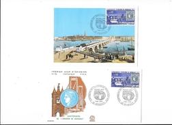 FDC N° 739 - Centenaire De L'émission De Bordeaux - BORDEAUX (33) - Carte + Enveloppe   - L 1 - FDC