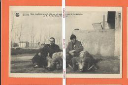 CHINE  -  Deux Mouflons (argali) Tués Par Un Américain Prèe De La Résidence Du R.P. De  Wilde  (Mongolie) - Chine