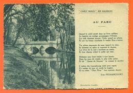 """CPSM GF Ligny En Barrois """" Le Parc """" Texte Jean Pichancourt - LJCP 42 - Ligny En Barrois"""