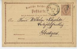 ALLEMAGNE - Carte De Correspondance Postée à BRANDENBURG En 1874 - Brandenburg