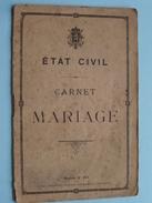 état Civil CARNET De MARIAGE De Quevy-le-Grand 1899 ( Bisoux / Soltieau ) ( Mod. 251 / Voir Photo ) !! - Unclassified