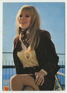 Cantante Marianne Faithfull - Cartolina Promozionale - Music And Musicians